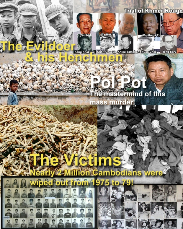 Pol Pot and his henchmen