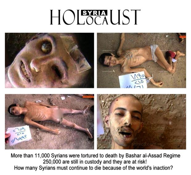 syria assad torture holocaust war crime