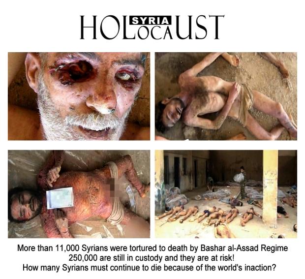 syria assad torture war crime holocaust