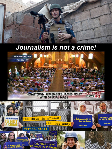 Vigil for James Foley