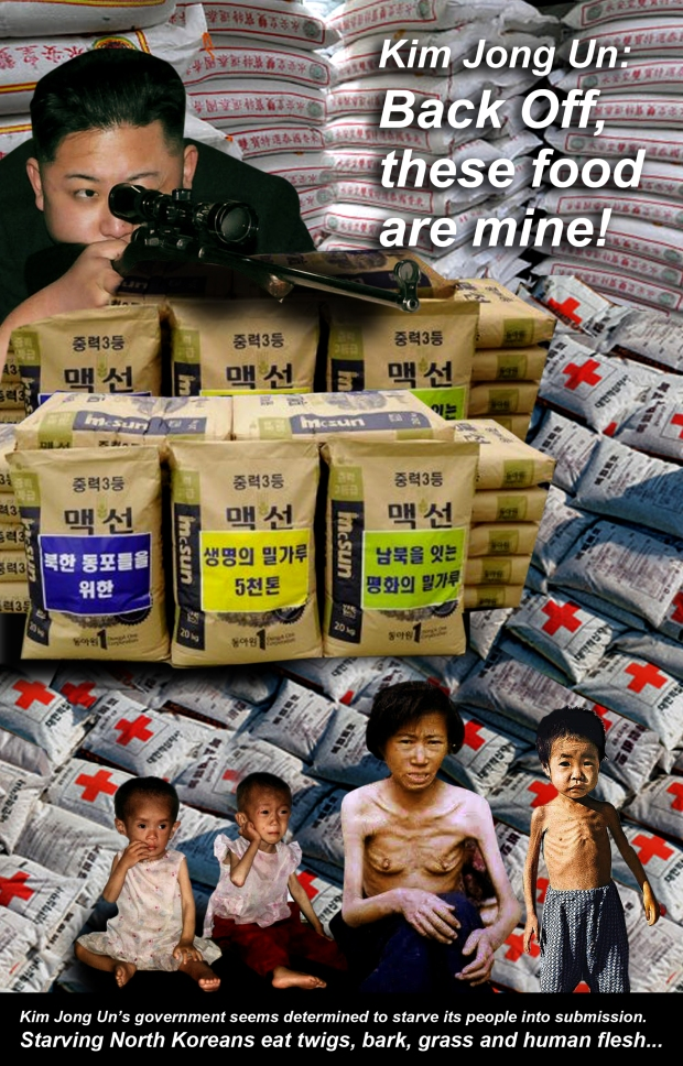 Starving orphans in North Korea