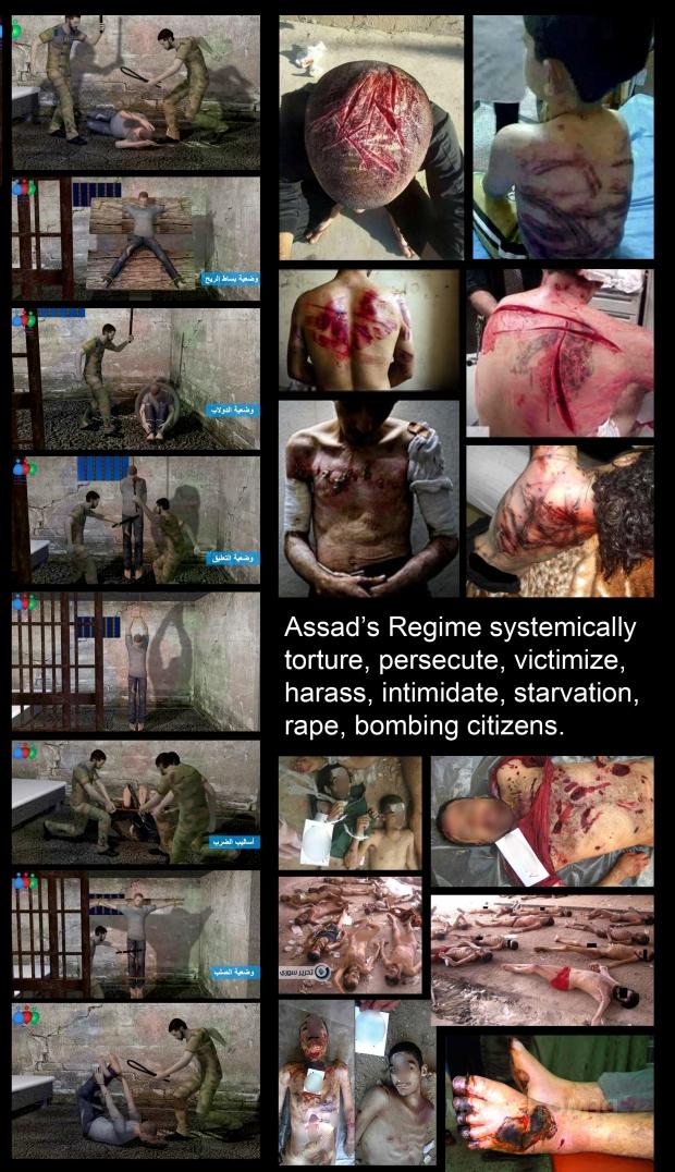 Syrian Regime torture, rape, starve, murder innocent civilians