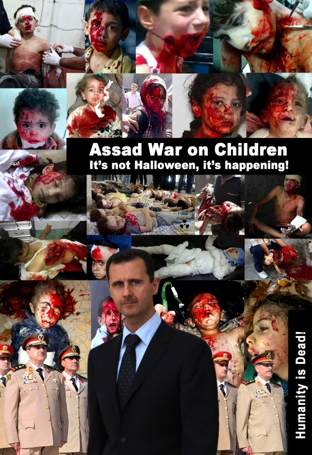 Assad Genocide Barrel Bombing of innocent civilians