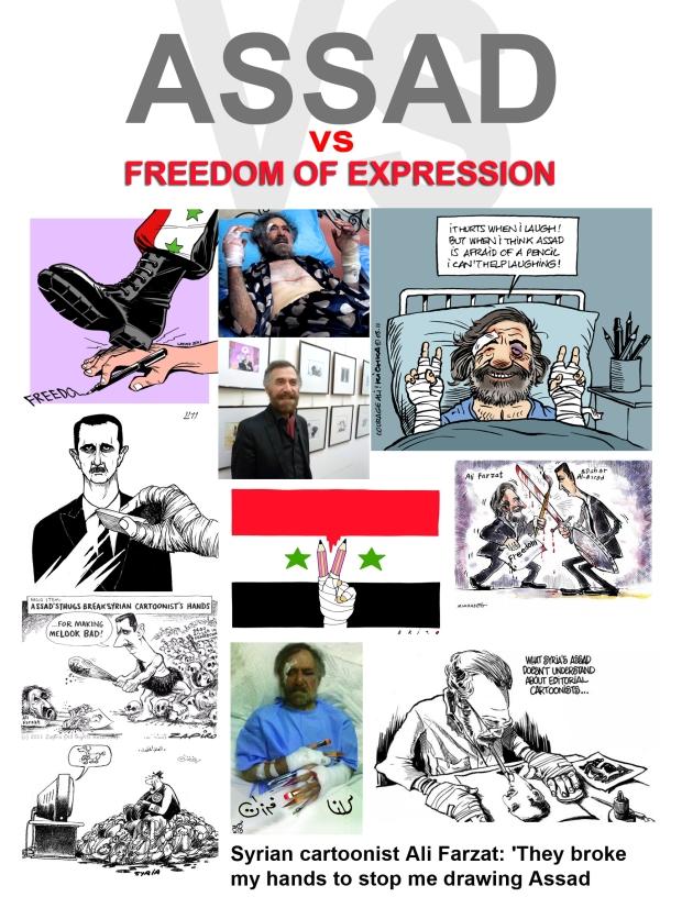 Syrian cartoonist Ali Farzat