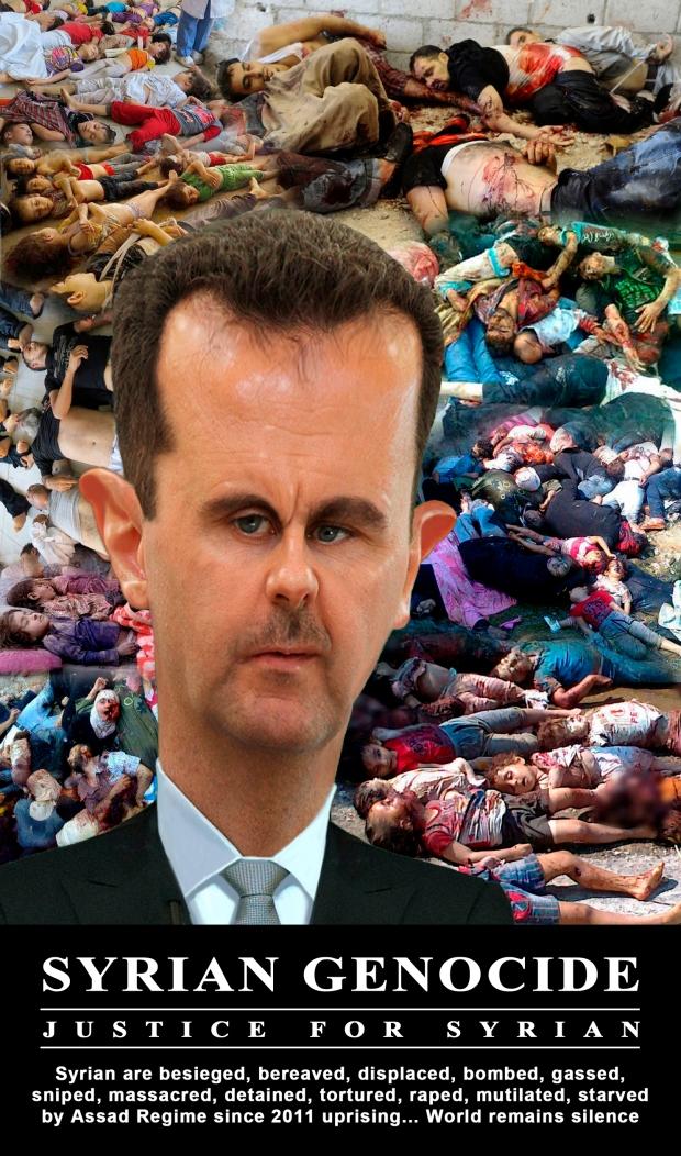 Syria Assad regime massacre his own people since 2011 uprising