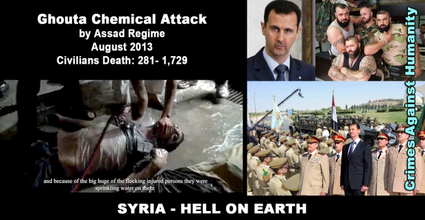 Ghouta Damascus, Syria Chemical Attack by Assad Regime