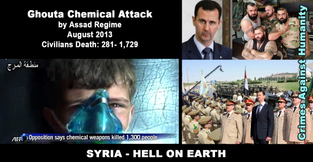 Bashar_al-Assad Ghouta Chemical Attack on civilians