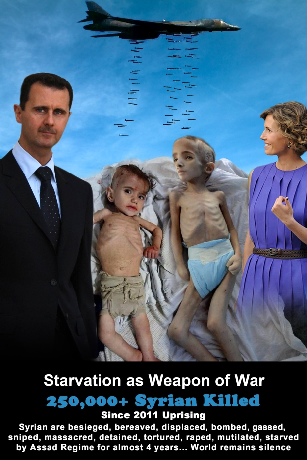 Syria Assad Regime use Starvation as Weapon of War to mass murder his own people