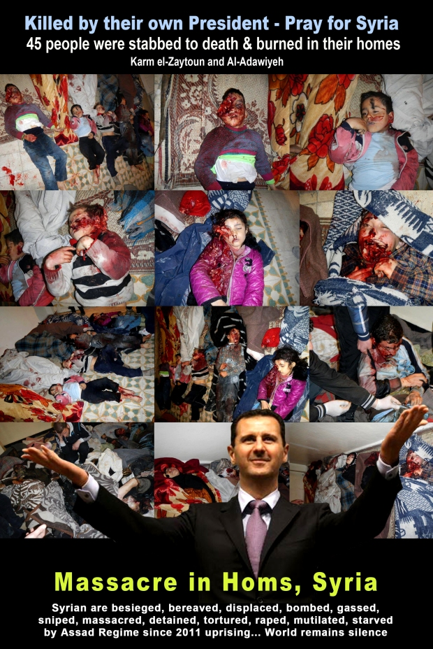 Massacre in Homs, Syria by Assad Regime