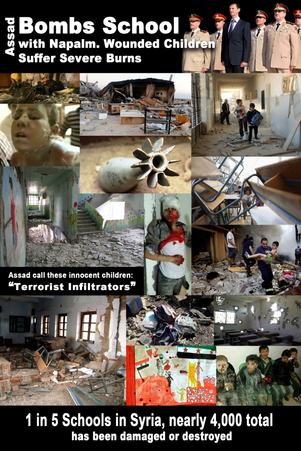 Assad Regime target and bomb school