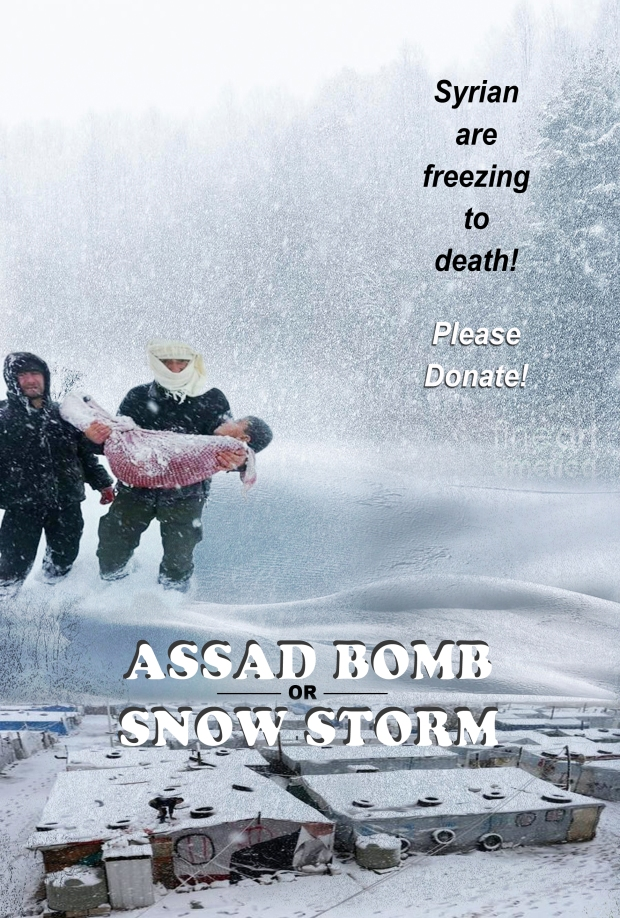 Syrian refugees are freezing to death in winter!