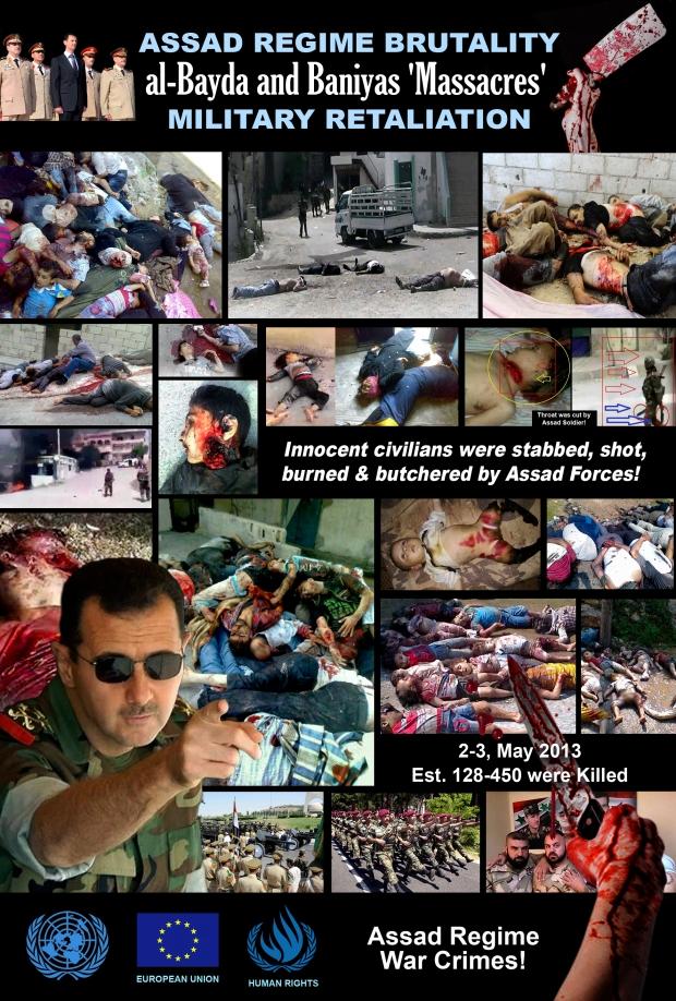 Syria al-Bayda & Baniyas massacre by Assad Regime