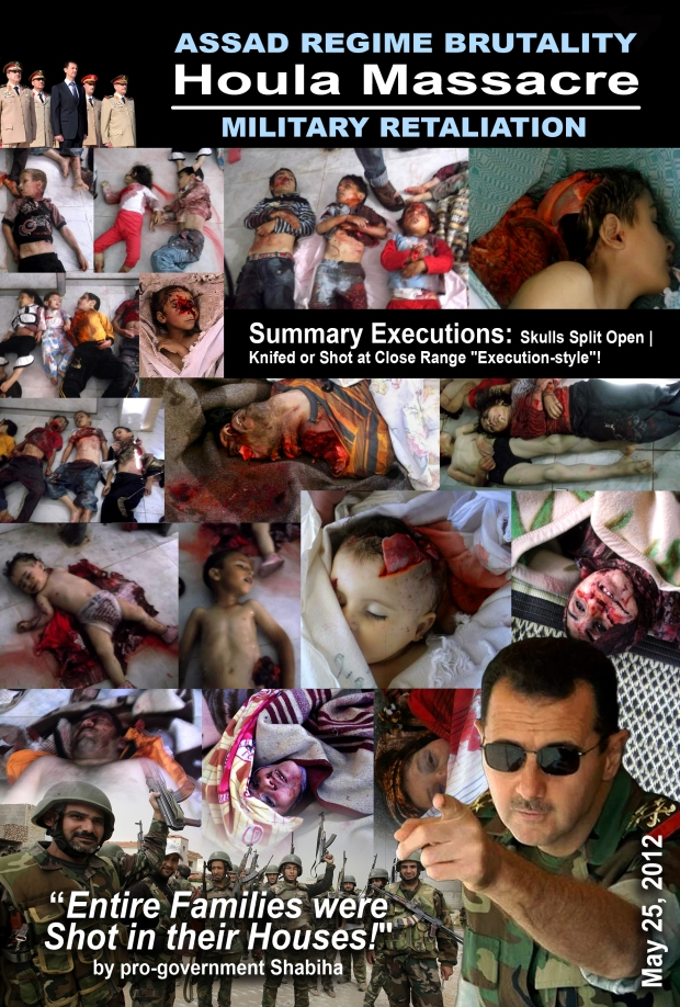 Syria Assad carry out Al Houla Massacre on May 25, 2012