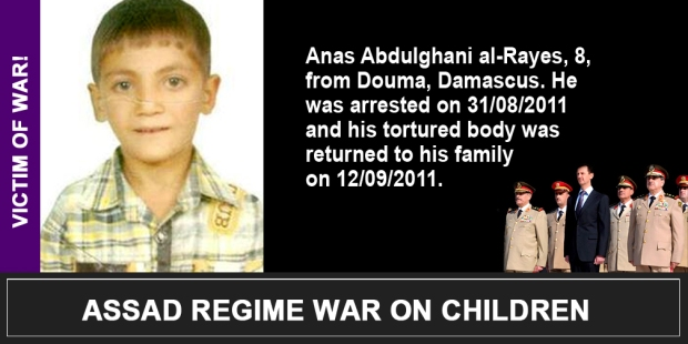 Syria Assad War on children Anas Abdulghani al-Rayes