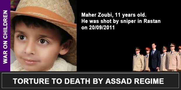 Syria Assad War on children Maher Zoubi