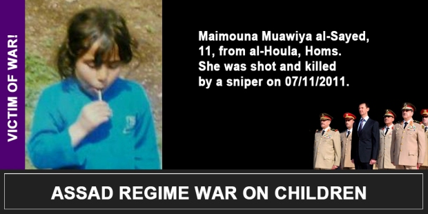 Syria Assad War on children Maimouna Muawiya al-Sayed
