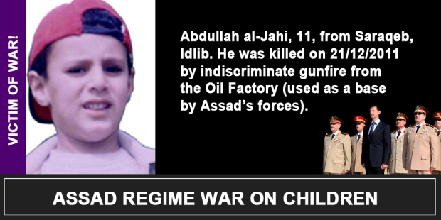 Syria Assad War on children Abdullah al-Jahi