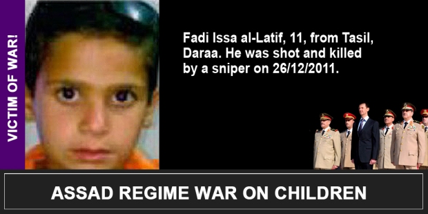 Syria Assad War on children Fadi Issa al-Latif