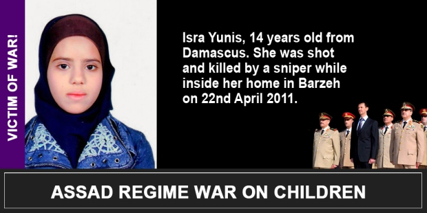 Syria Assad War on children Isra Yunis