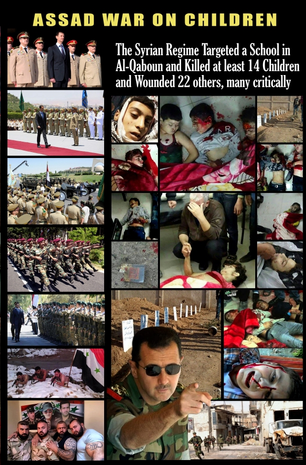 Syria Assad regime targeted childre, infiltrator terrorists