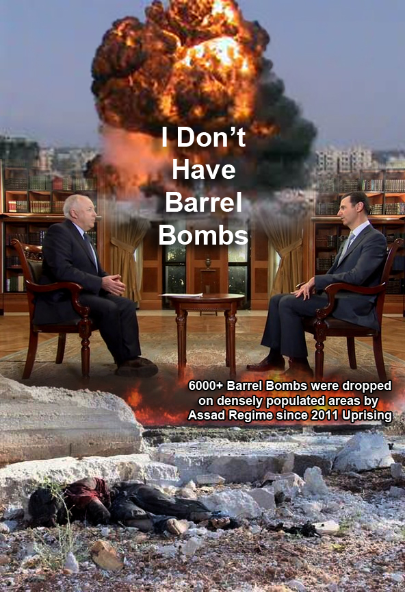assad syria barrel bombs kill