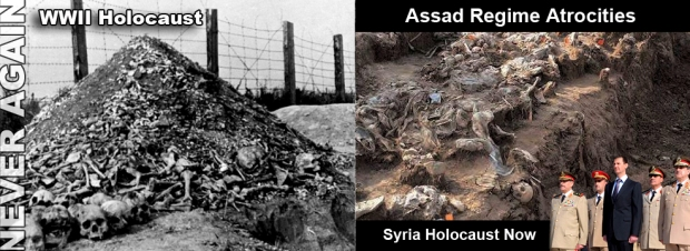 assad torture syria crimes bombing mass graves