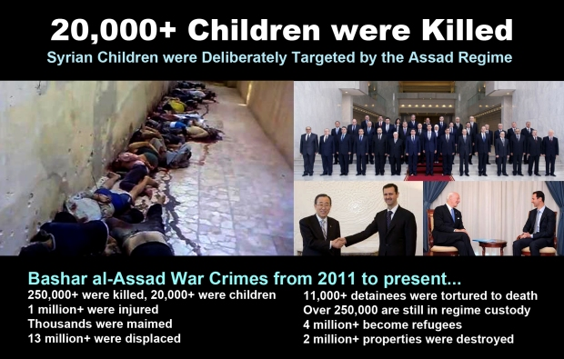 syria assad war on children