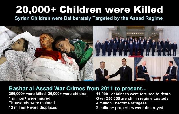 syria children genocide assad