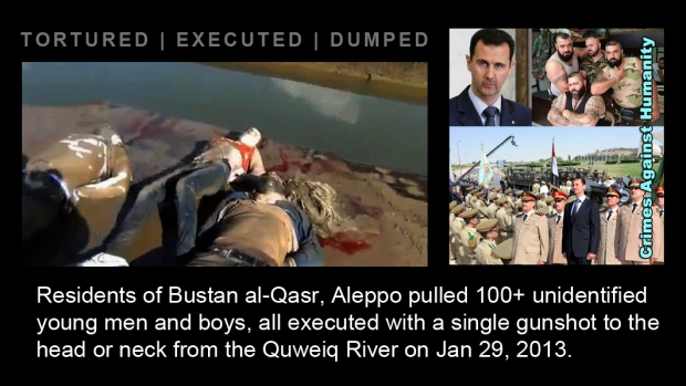 syria assad Queiq River massacre