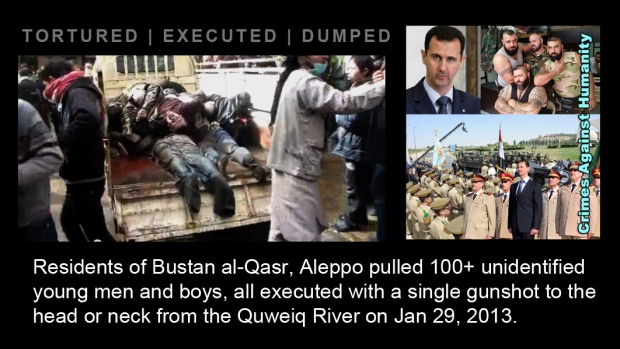 syria assad executed kill crime torture