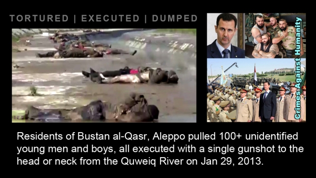 syria assad river Quweiq torture war crime