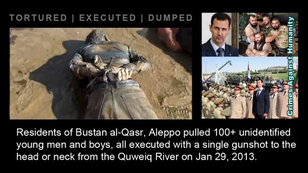 syrian assad war River Aleppo torture holocaust