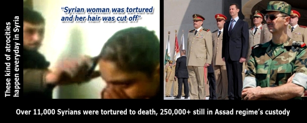 assad syria torture syrians woman and children