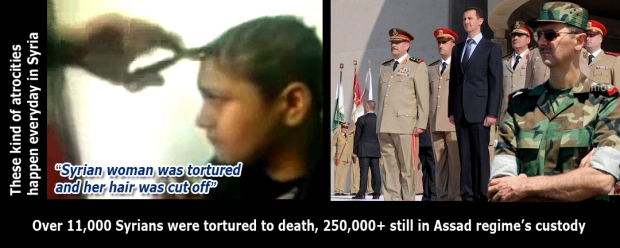 bashar al-assad syria torture syrians woman