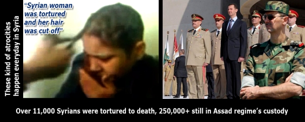 assad syria torture rape kill syrians woman