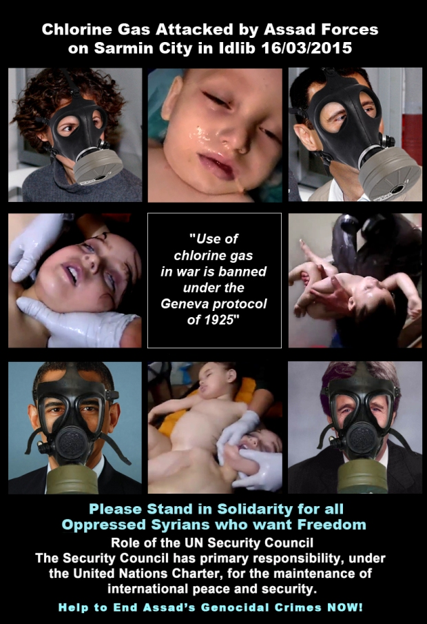syria assad torture chemical chlorine gas attack