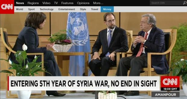 U.N. Refugees Chief slams 'lack of leadership' on Syria