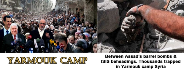 Palestinians are starving and being slaughtered in  Yarmouk Camp Syria