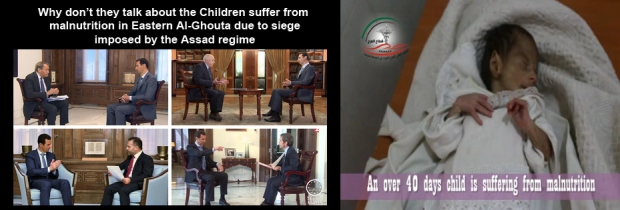 Syria Assad regime deliberately starving children to death