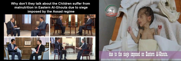 Syrian children are denied for basic need: food, water, medicine by Assad regime