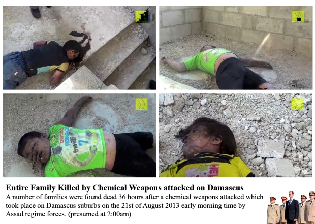 syria assad regime forces use chlorine, sarin chemical gas attack his own people