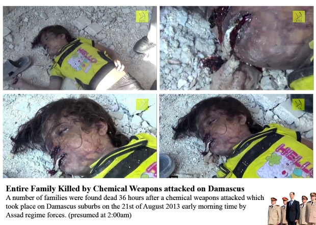Syria bashar al-assad use chemical weapon chlorine gas to attack his own people