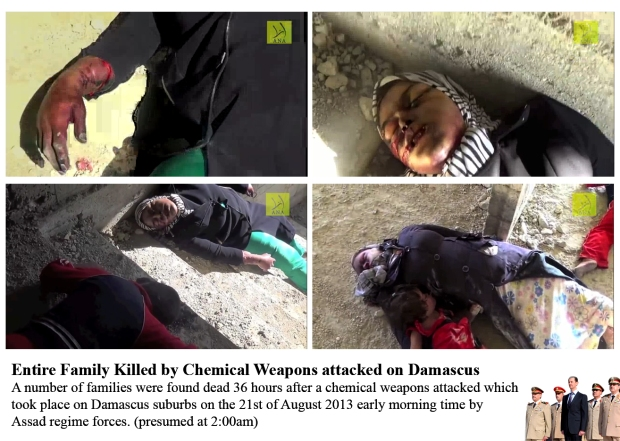 chemical attack by syrian government bashar al-assad, children and women were gassed to death