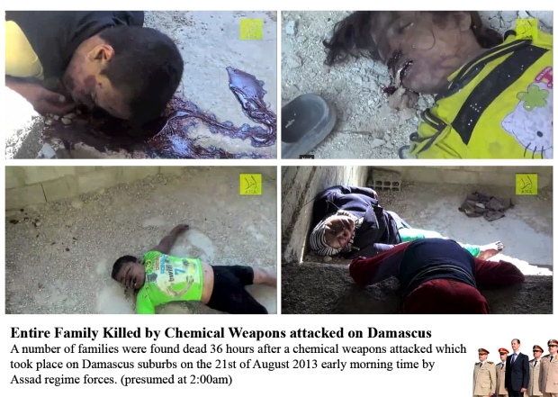 chemical chlorine gas was used by Assad regime on syrian civilian