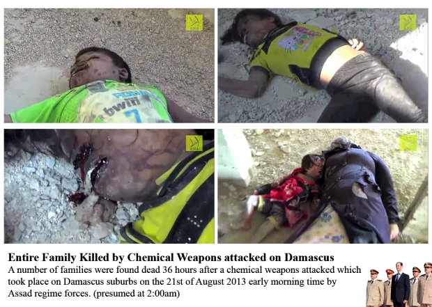 Syria Assad regime chemical gas attack on his own people