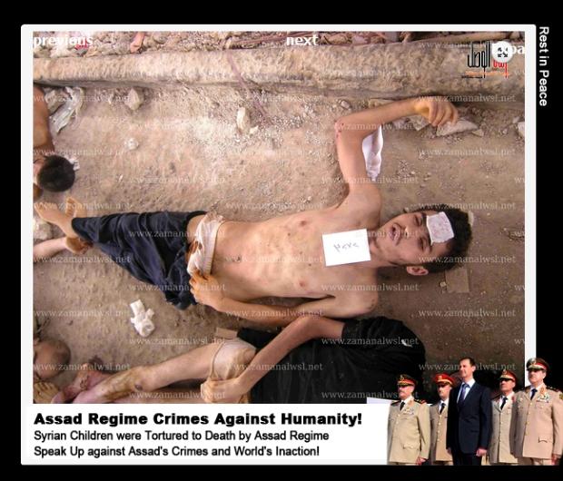 Syria Bashar al-Assad government torture massacre children