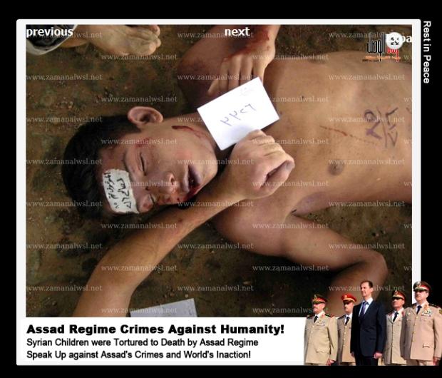 Syria Basha al-Assad regime torture starve rape kill Syrian children