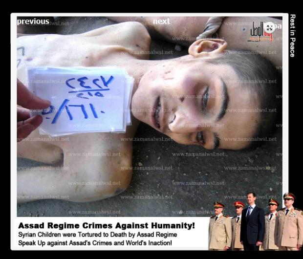 Syrian government Bashar al-Assad starve torture abuse rape Syrian children