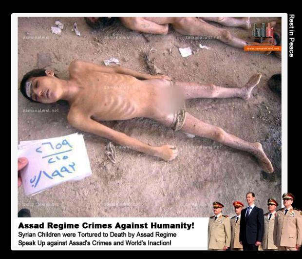 Syria Assad regime government massacre Syrian children