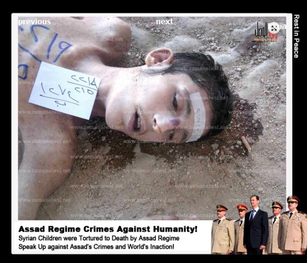 Syria Assad regime mass murder Syrian children